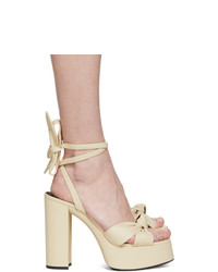 Saint Laurent Off White Bianca 85 Heeled Sandals