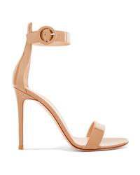 Gianvito Rossi Portofino 105 Patent Leather Sandals