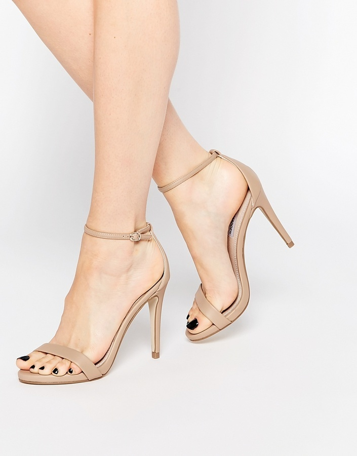 a3d83d18e172 ... Steve Madden Stecy Nude Barely There Heeled Sandals ...