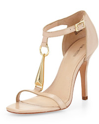 Yolanda vachetta leather sandal nude medium 191095