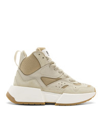 MM6 MAISON MARGIELA Beige High Top Chunky Sneakers