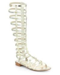 Stuart Weitzman Gladiator Metallic Sandals