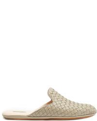 Bottega Veneta Intrecciato Leather Slipper Shoes
