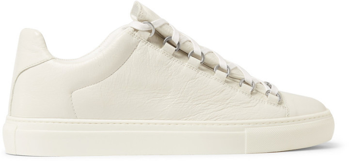 0155dd3b4620 ... Balenciaga Arena Creased Leather Low Top Sneakers ...