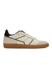 AMI Alexandre Mattiussi Beige And Black Low Sneakers