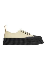 Jil Sander Beige Vulcanized Sneakers