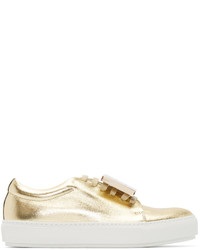 Gold leather adriana sneakers medium 526684