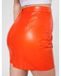 American Apparel The Leather Mini Skirt | Where to buy & how to wear