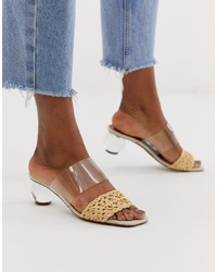 ASOS DESIGN Hamlet Clear Ball Block Heeled Sandals In Clear
