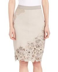 Bryana lasercut leather skirt medium 531775