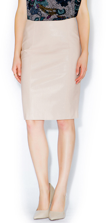 Luce C Blush Leather Pencil Skirt | Where to buy & how to wear