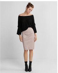 High waisted leather pencil skirt medium 5258672