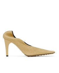Bottega Veneta Beige Crunch Leather Heels