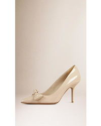 Burberry Bow Detail Patent Leather Pumps