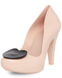 Dorothy Perkins Mel Nude Rubber Court Shoes