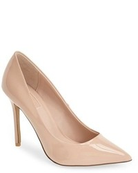 Topshop Gemini2 Snake Effect Pointy Toe Pump