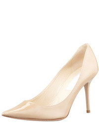 Jimmy Choo Agnes Pointed Toe Patent Pump Nude
