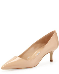 Manolo Blahnik Bb Patent Leather Pump Nude