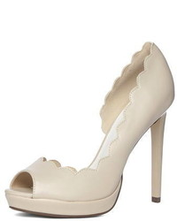 Dorothy Perkins Nude High Peep Toe Court Shoes