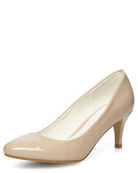 Dorothy Perkins Nude Mid Height Court Shoes