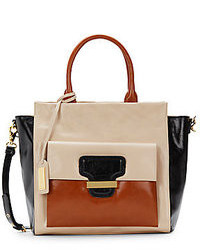 Badgley mischka dakota shine colorblock satchel medium 78337