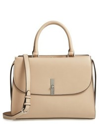 Morgan convertible faux leather satchel beige medium 6471564