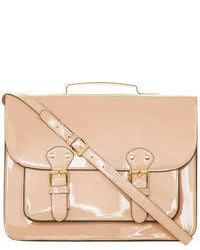 Dorothy Perkins Nude Patent Structured Satchel