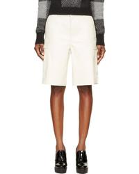Cream leather combat shorts medium 672987
