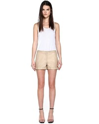 Mackage kera sand leather shorts medium 666963
