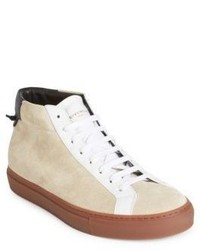 Givenchy Urban Street Leather Mid Top Sneakers