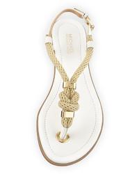 10e35beae32c ... MICHAEL Michael Kors Michl Michl Kors Holly Knotted Rope Flat Thong  Sandal Optic White ...