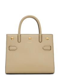 Burberry Beige Mini Two Handle Title Bag