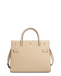 Burberry Medium Title Y Leather Bag