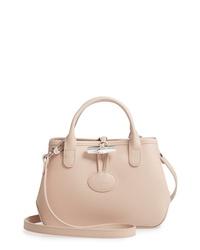 Longchamp Mini Roseau Leather Crossbody Bag