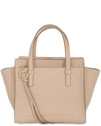 Salvatore Ferragamo Small Amy Grained Leather Tote Bag