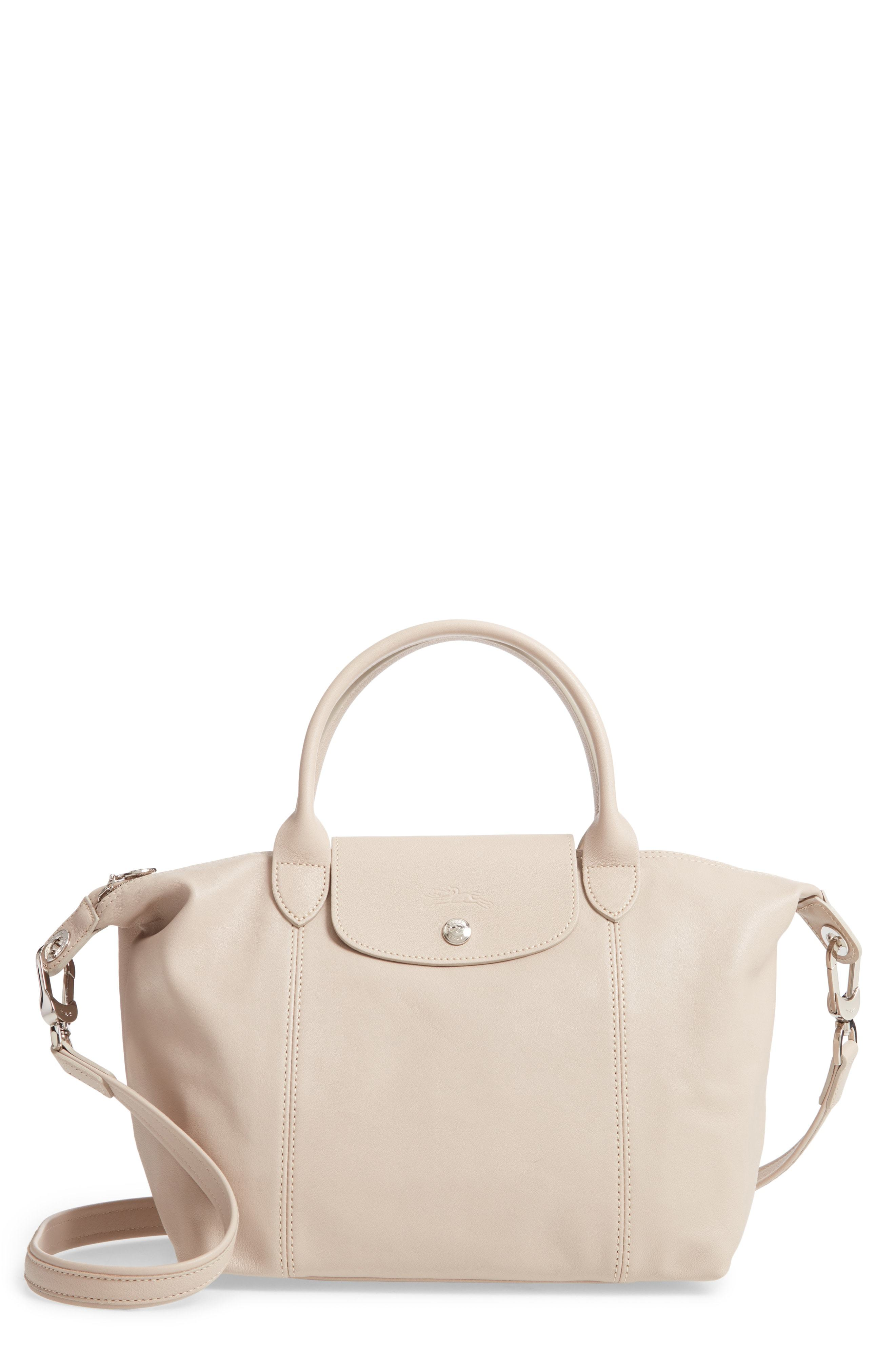 Small Le Pliage Cuir Leather Tote