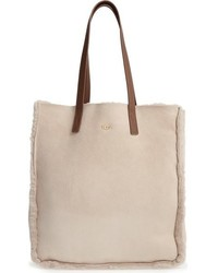 Ugg Claire Genuine Shearling Tote Beige