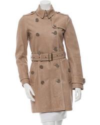 Brit leather trench coat medium 3662571