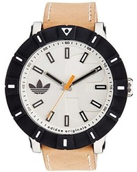 Beige Leather Watch