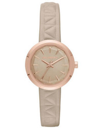 Karl Lagerfeld Belleville Leather Strap Watch Kl1612
