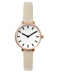 Breda Beverly Round Leather Watch