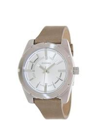 Diesel Beige Leather Strap Watch