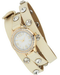 Dorothy Perkins Cream Stone Wrap Around Watch