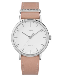 Timex Fairfield Leather Watch