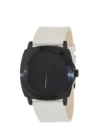 Kenneth Cole Reaction Street Rk1289 Beige Leather Quartz Watch With Black Dial