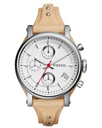 Fossil Original Boyfriend Leather Strap Watch 38mm