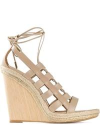 Tie fastening wedge sandals medium 263675