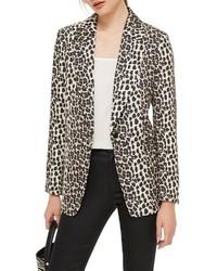 Beige Leopard Blazer
