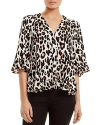 Ruffled leopard print blouse medium 664843
