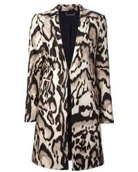 Diane von furstenberg mahala leopard print coat medium 35602